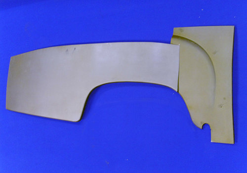 Fender repair metal sheets, passenger side, rear right, Part Of, Mercedes-Ponton, Convertible, Coupe